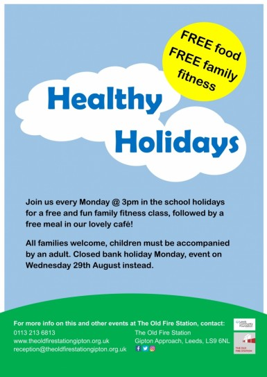 Free meal and family fitness Image